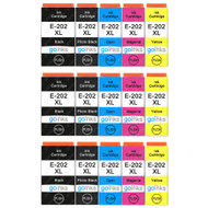 3 Go Inks Set of 4 + extra Photo Black Ink Cartridges to replace Epson 202XL Compatible/non-OEM for Epson Expression Photo Printers (15 Inks)