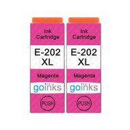 2 Go Inks Magenta Ink Cartridges to replace Epson 202XLM Compatible/ non-OEM for Epson Expression Photo Printers