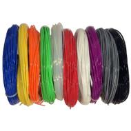 2M Rainbow Samples Pack of 3D Printer Filament - 10 Colours - ABS - 1.75mm