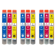 3 Go Inks Set of 3 Ink Cartridges to replace Epson T3557 (33XL Series) C/M/Y Compatible/non-OEM for Epson Expression Home Printers (9 Inks)