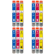 4 Go Inks Set of 3 Ink Cartridges to replace Epson T3557 (33XL Series) C/M/Y Compatible/non-OEM for Epson Expression Home Printers (12 Inks)