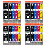 4 Go Inks Set of 4 + extra Photo Black Ink Cartridges to replace Epson T3557 (33XL Series) Compatible/non-OEM for Epson Expression Premium  Printers (20 Inks)
