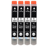 4 Go Inks Photo Black Ink Cartridges to replace Epson T3361 (33XL Series) Compatible / non-OEM for Epson Expression Premium  Printers