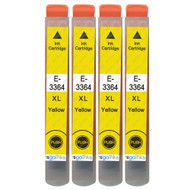 4 Go Inks Yellow Ink Cartridges to replace Epson T3364 (33XL Series) Compatible/ non-OEM for Epson Expression Premium  Printers