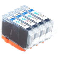 4 Cyan Compatible Canon CLI-8C Printer Ink Cartridges