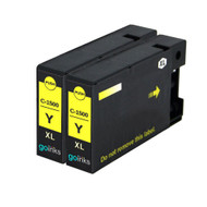 2 Go Inks Yellow Ink Cartridges to replace Canon PGI-1500XLY Compatible / non-OEM for PIXMA Printers