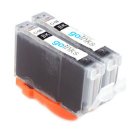 2 Black Compatible Canon CLI-8Bk Printer Ink Cartridges