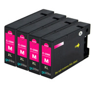 4 Magenta Compatible Canon PGI-1500XLM Printer Ink Cartridges