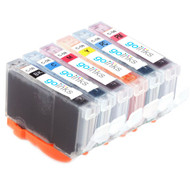 1 Go Inks Set of 6 Ink Cartridges to replace Canon CLI-8 Compatible / non-OEM for PIXMA & Pixus Printers (6 Pack)
