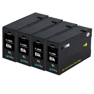 4 Go Inks Black Ink Cartridges to replace Canon PGI-1500XLBk Compatible / non-OEM for PIXMA Printers