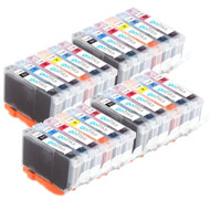 4 Compatible Sets of 6 Canon CLI-8 Printer Ink Cartridges