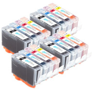 4 Go Inks Set of 4 Ink Cartridges to replace Canon PGI-5 & CLI-8 Compatible / non-OEM for PIXMA & Pixus Printers (16 Pack)