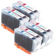 4 Compatible Sets of Canon CLI-8PC & CLI-PM Printer Ink Cartridges (Photo Set)