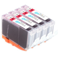 4 Magenta Compatible Canon CLI-8M Printer Ink Cartridges
