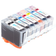 1 Go Inks Set of 7 Ink Cartridges to replace Canon PGI-5 & CLI-8 Compatible / non-OEM for PIXMA Printers (7 Pack)