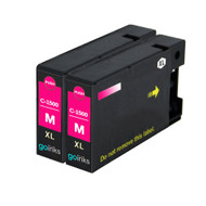 2 Magenta Compatible Canon PGI-1500XLM Printer Ink Cartridges