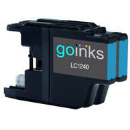 2 Go Inks  Cyan Ink Cartridges to replace Brother LC1240C & LC1220C  Compatible / non-OEM for Brother DCP & MFC Printers