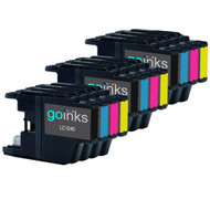 3 Go Inks Set of 4 Ink Cartridges to replace Brother LC1240 & LC1220 Compatible / non-OEM for Brother DCP & MFC Printers (12 Inks)