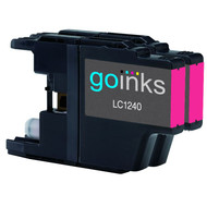 2 Go Inks  Magenta Ink Cartridges to replace Brother LC1240M & LC1220CM  Compatible / non-OEM for Brother DCP & MFC Printers