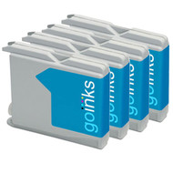 4 Cyan Compatible Brother LC970 / LC1000 Printer Ink Cartridges