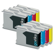 2 Sets of Compatible Brother LC970 / LC1000 Printer Inks Cartridges