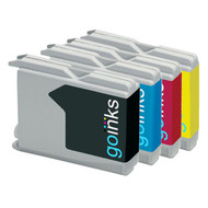 1 Go Inks Set of 4 Ink Cartridges to replace Brother LC970 & LC1000 Compatible / non-OEM for Brother DCP, MFC, FAX Printers (4 Inks)