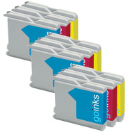 3 C/M/Y Colour Sets of Compatible Brother LC970 / LC1000 Printer Ink Cartridges