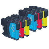 2 Go Inks Set of 3 C/M/Y Ink  Cartridges to replace Brother LC980 & LC1100 Compatible/non-OEM for Brother DCP & MFC Printers (6 Inks)