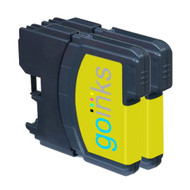 2 Yellow Compatible Brother LC980 / LC1100 Printer Ink Cartridges