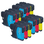 4 C/M/Y Colour Sets of Compatible Brother LC980 / LC1100 Printer Ink Cartridges