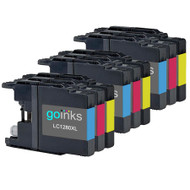 3 Go Inks Set of 3 C/M/Y Ink Cartridges to replace Brother LC1280XL Compatible / non-OEM for Brother MFC Printers (9 Inks)