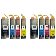 2 Go Inks Set of 4 Ink Cartridges to replace Brother - LC127XL & LC125XL Compatible / non-OEM for Brother DCP & MFC Printers (8 Inks)