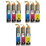3 C/M/Y Colour XL Sets of Compatible Brother LC125 Printer Ink Cartridges