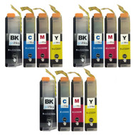 3 Go Inks Set of 4 Cartridges to replace Brother LC223 Compatible / non-OEM for Brother DCP & MFC Printers (12 Inks)