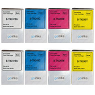 2 Compatible Set of 4 Brother TN241 & TN245 Toner Cartridges (TN241BK/TN245C/TN245M/TN245Y)