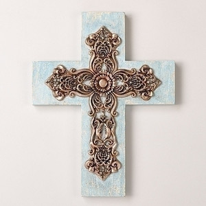 "12.25"" Something Blue Wall Cross"