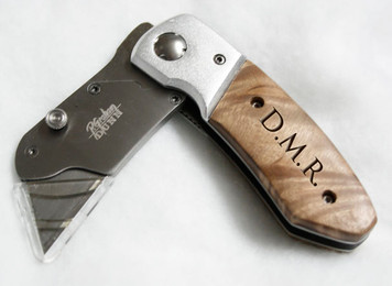 Personalized Box Cutter Knife with Clip