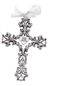 Christening Filigree Cross