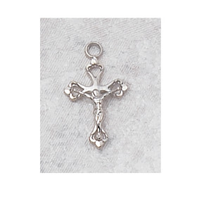Sterling Silver Fancy Crucifix Baby Necklace