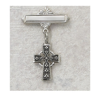 Sterling Silver Celtic Cross  Baby Pin