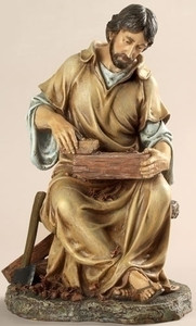 "11"" Jesus the Carpenter Statue Renaissance Collection"