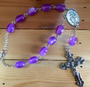 Dark Amethyst One Decade Auto Rosary
