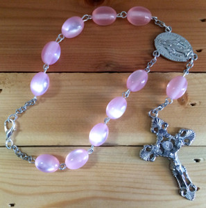 Pink One Decade Auto Rosary