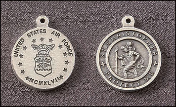 Pack of 10 Air Force Saint Christopher Medals