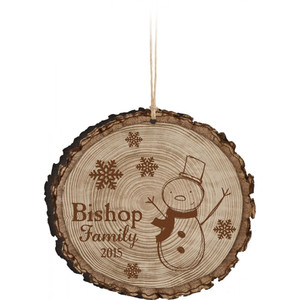 Barky Wood Personalized Ornaments - Various Styles