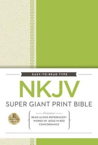 NKJV Super Giant Print Bible - Green