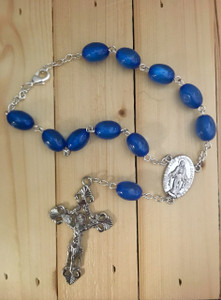 Dark Blue One Decade Auto Rosary