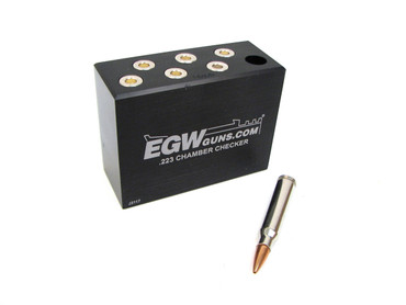 223 7-Hole Chamber Checker Case Gauge by EGW (70150)