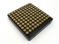 100-Hole 40 S&W Hundo Chamber Checker Cartridge Case Gauge - Anodized Black by Shockbottle