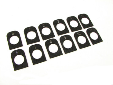 CZ Easy Off Aluminum Extended Magazine Basepad Grip Tape  - Numbered 0-11